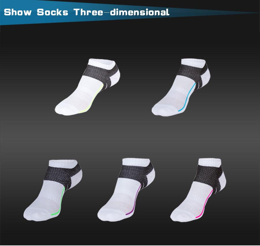 Спортивные классические воздухопроницаемые носки из хлопка