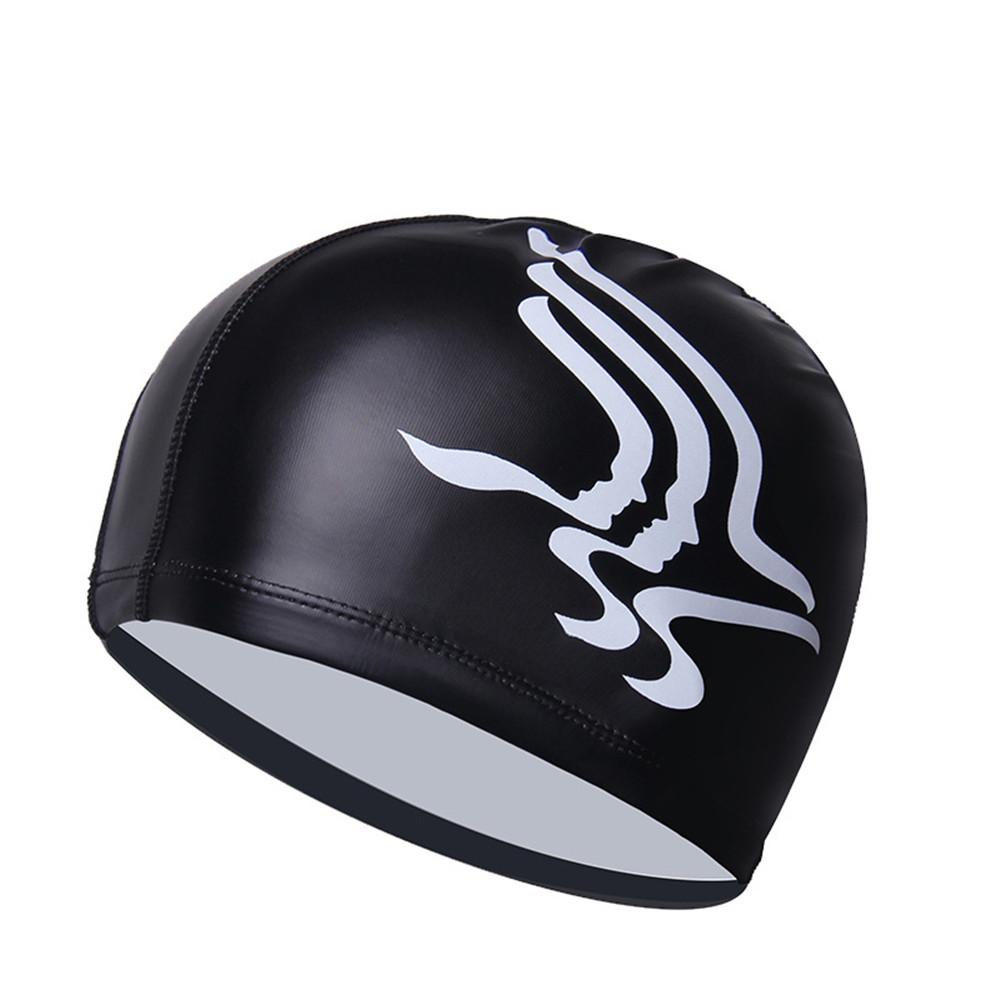 Шапочка для плавания, антиультрафиолетовая и воздухопроницаемая, цвет: черный