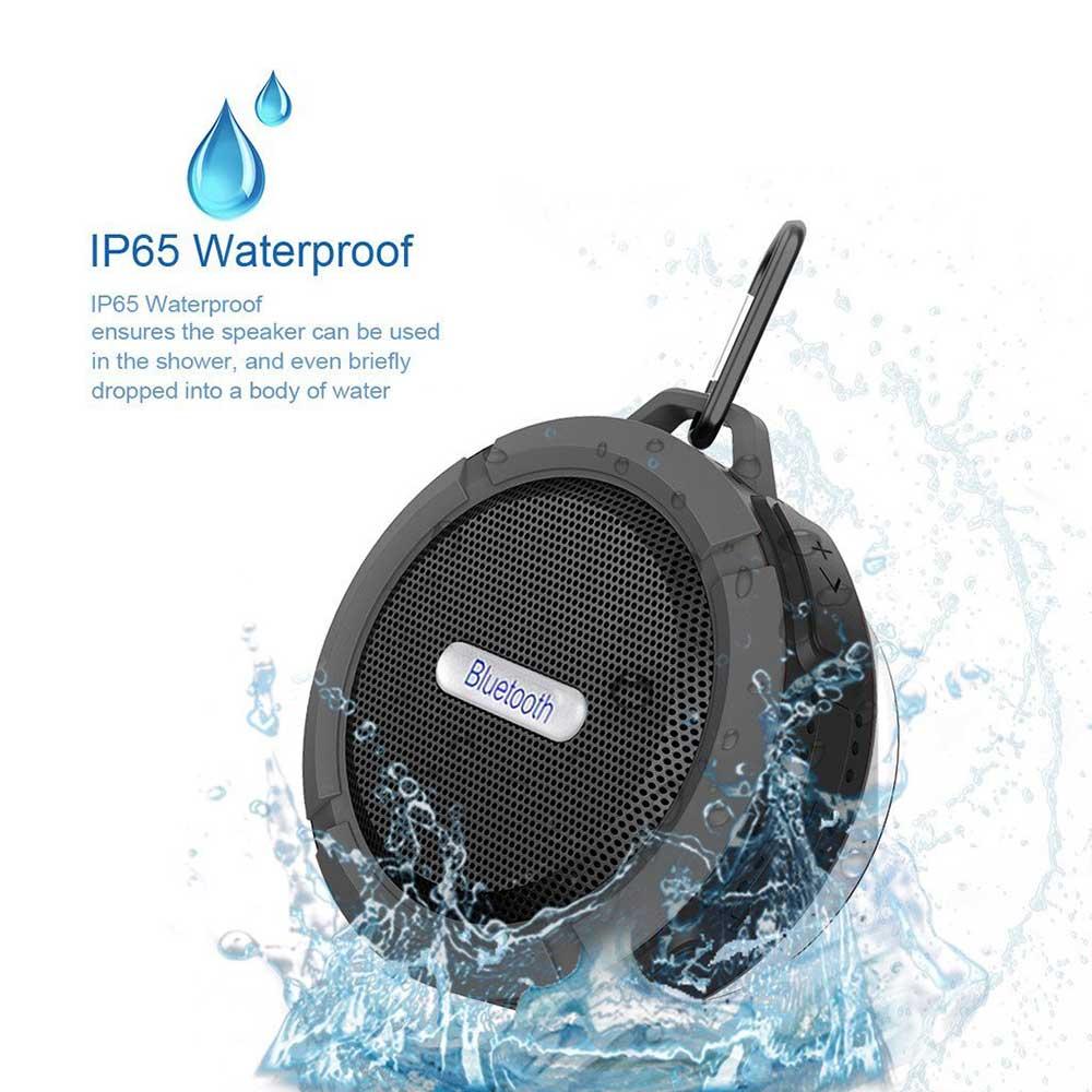 Wireless bluetooth 3 rda waterproof outdoor shower speaker with mic black ebay for Wireless bluetooth bathroom speaker