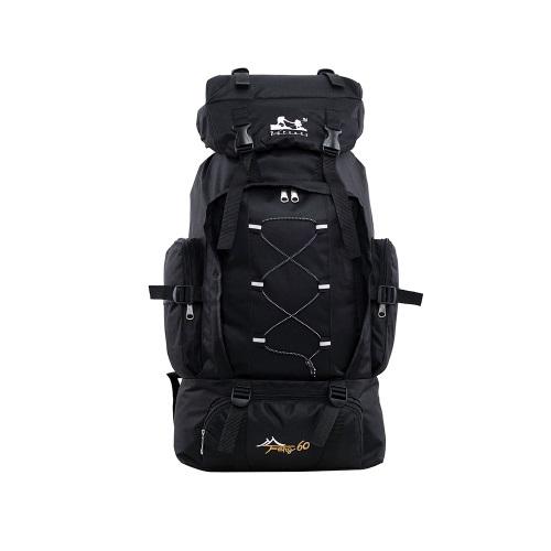 Черный спортивный рюкзак для похода и кемпинга