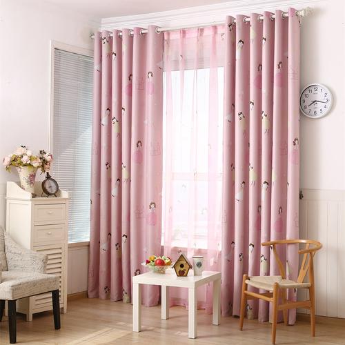 Pink Children Eyelet Cartoon Blackout Curtains Drapes 2 Panels For Kids 54 X84 Ebay