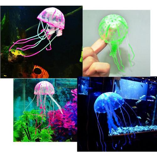 6 Couleur Effet Méduse Aquarium Décoration Fish Tank HOME DECO Ornement 10 Piece 11