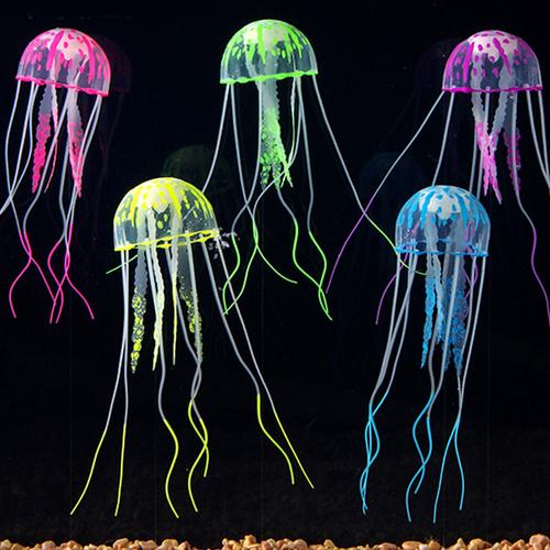6 Couleur Effet Méduse Aquarium Décoration Fish Tank HOME DECO Ornement 10 Piece