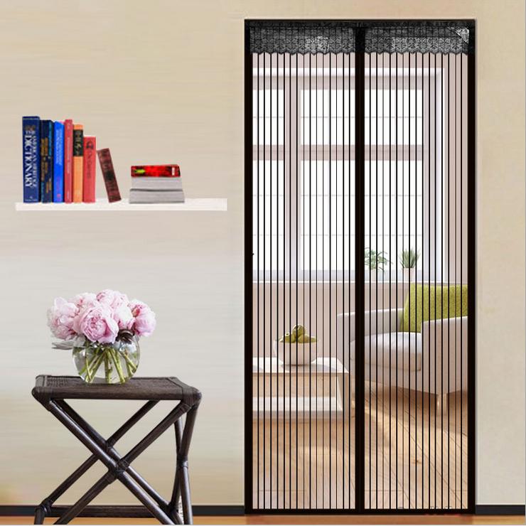 Instant Screen Door : Quality magnetic screen door instant mesh curtain keeps