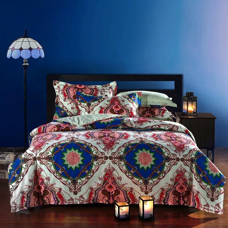 Двухстороннее постельное белье, набор из 4 наименований