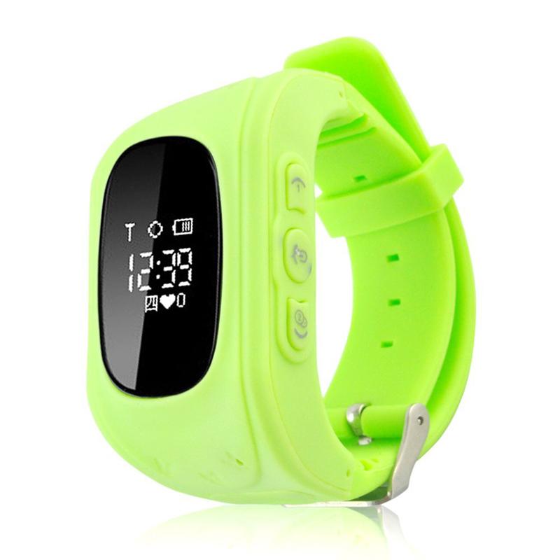 Детские умные часы, совместимая ОС: iOS и Android, цвет: зеленый