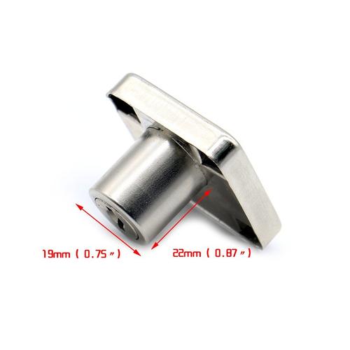 XiaoBoShi Drawer Locks 19mm Diameter 22mm Thickness Cabinet Desk Cupboard Lock 2