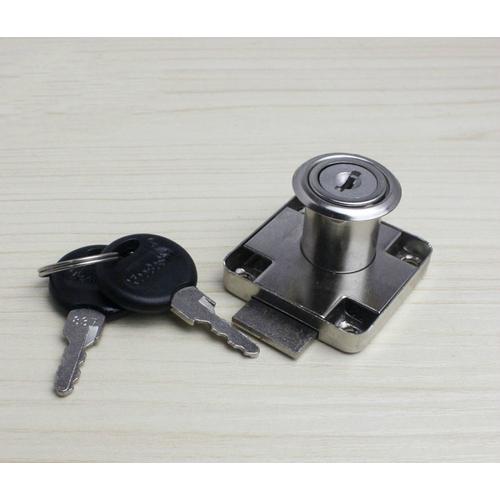 XiaoBoShi Drawer Locks 19mm Diameter 22mm Thickness Cabinet Desk Cupboard Lock 7