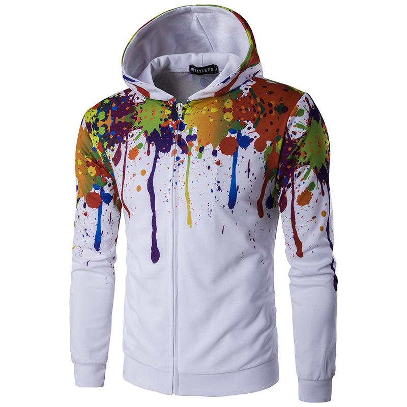Спортивная куртка мужская с капюшоном на молнии