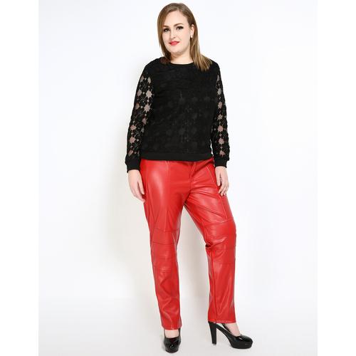 Leather Pants Women Faux Leather Leggings Plus Size SexyPants ...