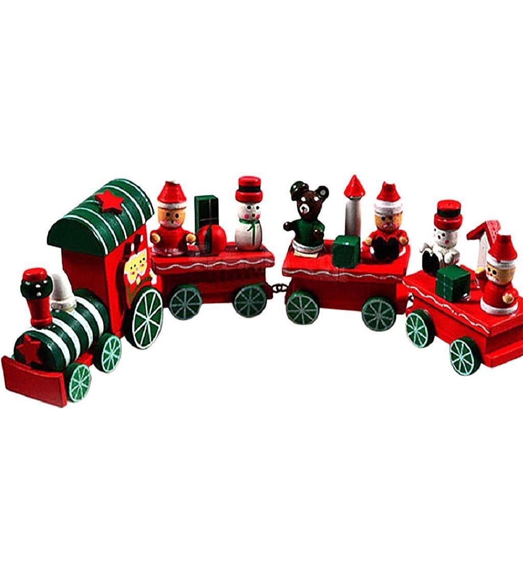 Игрушечный поезд в новогоднем стиле