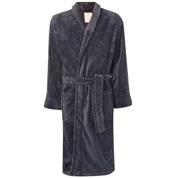 Мужские халаты для ванной, цвет: серый, размер: M