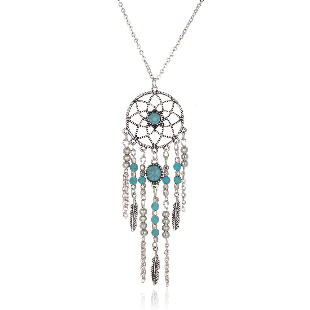 Ожерелье с бахромой в стиле ретро